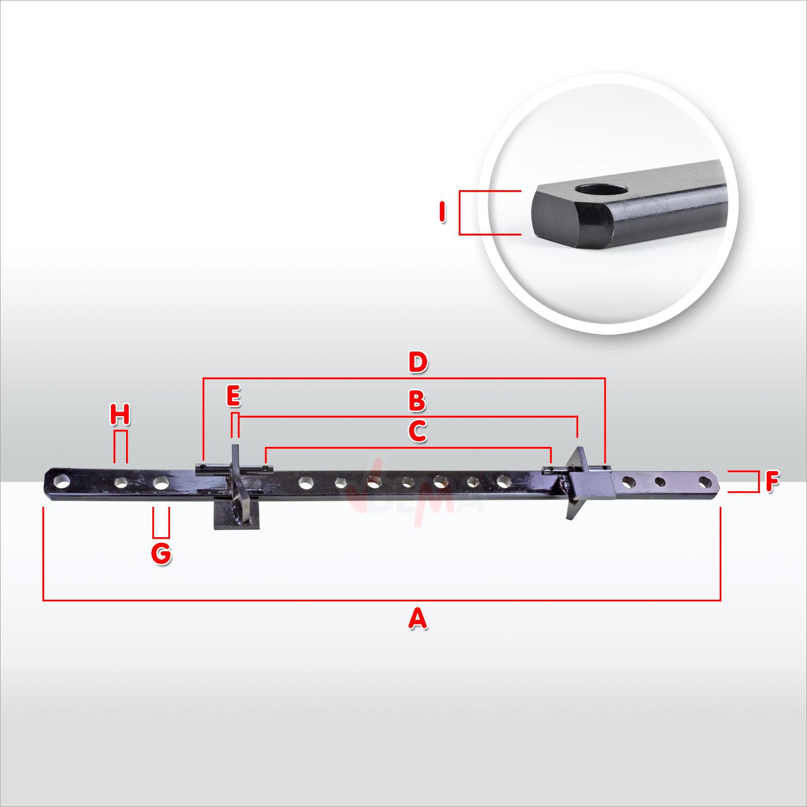 barre de relevage 1620 mm kat 1 2 barre relevage. Black Bedroom Furniture Sets. Home Design Ideas